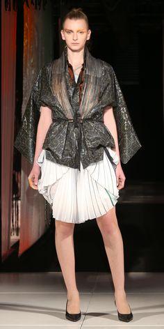 Kimono Vest Dress Stilettos #Tramando #SS16  #Kimono #ArtCouture