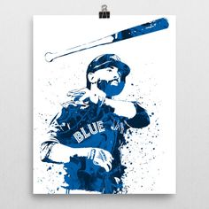 Bautista is a Dominican professional baseball right fielder for the Toronto Blue Jays of Major League Baseball (MLB). In Bautista became the member of the 50 home run Baseball Posters, Baseball Art, Better Baseball, Baseball Tickets, Baseball Uniforms, Sports Posters, Baseball Stuff, Baseball Field, Fifa Teams