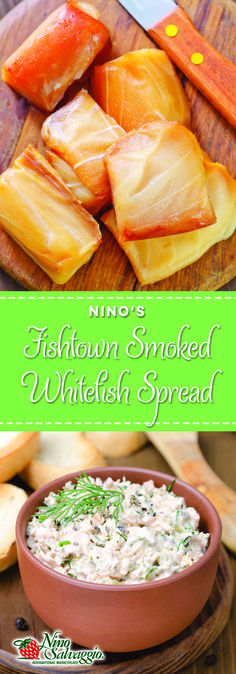 Our most popular recipe! Michigan Memories…Leland's Smoked Whitefish. Recipe for Fishtown Smoked Fish Spread. You can use any smoked fish in this recipe. Set this out at your holiday party and watch it disappear! | More delicious recipes at ninosalvaggio.com