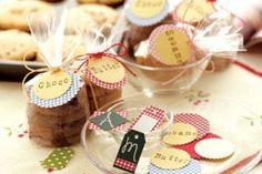 手作りお菓子ラップングに、オリジナルタグ☆の作り方 ペーパークラフト 紙小物・ラッピング アトリエ