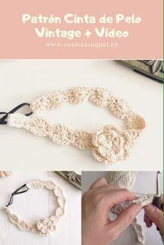 Crochet Leaf Patterns, Crochet Bracelet Pattern, Floral Embroidery Patterns, Bracelet Patterns, Crochet Bows Free Pattern, Col Crochet, Crochet For Kids, Bandeau Crochet, Crochet Headband Tutorial