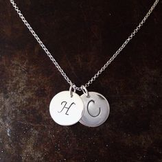 Sterling silver initials from BAKKA jewelry Name Jewelry, Silver Jewelry, Initials, Sterling Silver, Silver Decorations, Silver Jewellery, Silverware Jewelry