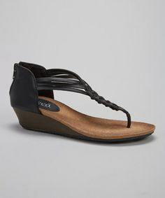 Another great find on #zulily! Black Moricas Sandal by Bucco #zulilyfinds