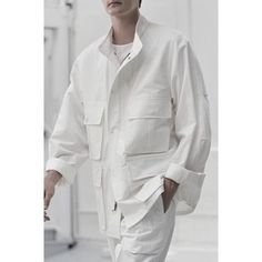 Just a common day. Modern Mens Fashion, High Fashion, Christophe Lemaire, Look Man, Men's Coats And Jackets, Shirt Jacket, Work Wear, Shirt Designs, Street Wear