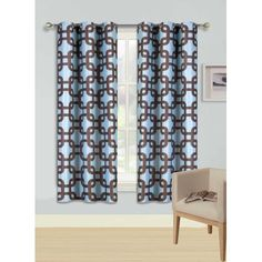 1 Piece Printed Faux Silk Blackout Window Curtain Set With Foam Back Lining For Easy Care Which is Beatifully Complimented With Enchanting Colors and a Modern Silver Grommet Header Adding a Playful Pop to Any Room. Features : 100 Percent Polyester Washable Printed Faux Silk Fabric Blackout Room Darkening Energy Saving 1.6 Inch Internal Grommet Diameter Sold individually as single panel 37 W X 63 L  - Room Darkening Curtains - Ideas of Room Darkening Curtains #RoomDarkeningCurtains Room Darkening Curtains, Window Curtains, Blackout Windows, Curtain Sets, Silk Fabric, Save Energy, 1 Piece, Ikea, Modern