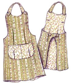 Vintage Apron Patterns Free | ... apron, paisley pincushion, apron pattern, apron, patterns, vintage