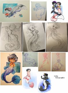 Mermen Malec (flowers, meeting the Chairman, going to Prom, peeking, two sketches of Magnus, other version for Alec, bubbles, me?, standing by each other, colored Alec and colored Magnus) ...  From freakypumpkin  ...  shadowhunters, alexander 'alec' lightwood, magnus bane, the mortal instruments, malec, mer, mermen, merman, mermaid, chairman meow