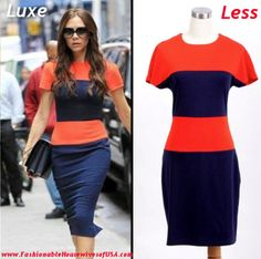 Victoria Beckham's Color Block Dress Look for Less