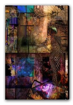 Canvas Print of abstract with human and industry elements