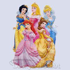 BIG Disney Princess Wall Sticker Decal 35X54CM Ariel Aurora Cinderella Girl YC04