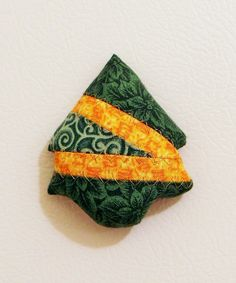 Christmas Tree Fabric Magnets by KjgBoutique on Etsy