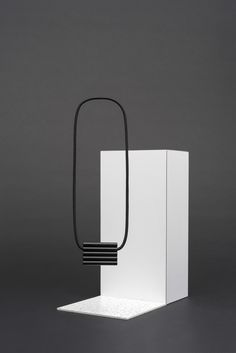Born from the collaboration between Montreal-based designer Maud Beauchamp (co–founder of the design venture mpgmb) and ceramist Agathe Palavioux, O. Cord Cover, Geometric Form, Black And White Colour, White Colors, Modern Minimalist, Light Fixtures, Architecture Design, Pure Products, Necklaces