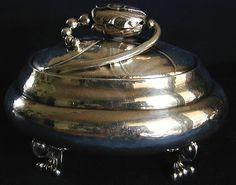 Georg Jensen 'blossom' sugar jar with cover