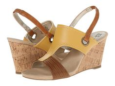 Anne Klein Anne Klein  Leni YellowCognac Womens Shoes for 28.99 at Im in!