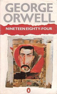 Nineteen Eighty-Four by George Orwell - Down with Big Brother George Orwell, Book Cover Design, Book Design, Great Books, My Books, Music Books, Nineteen Eighty Four, Penguin Books, Nonfiction