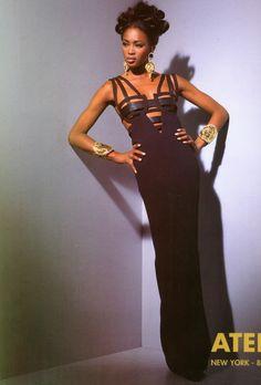 Vintage Versace Atelier Naomi Campbell