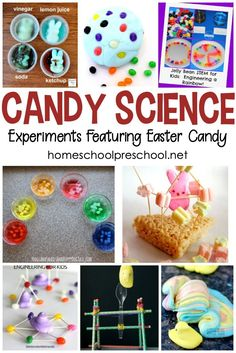 Engage your little ones with these amazing Easter candy science experiments! These activities feature Peeps, Skittles, jelly beans, and more! - Kids education and learning acts Transportation Preschool Activities, Science Crafts, Science Activities For Kids, Easter Activities, Science Art, Science Worksheets, Mad Science, Kindergarten Science, Weird Science