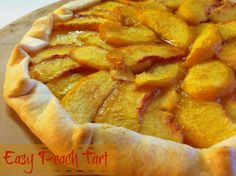 Easy Peach Tart on MyRecipeMagic.com