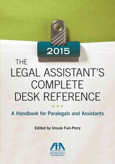 This is a complete guide to the rules and regulations guiding paralegals and legal assistants well as the many different types of forms they are responsible for each day. This comprehensive handbook a