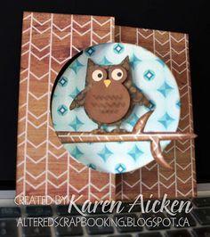Altered Scrapbooking: Owl Flip It Card
