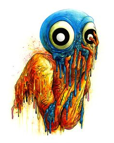 From Spoke Art, Alex Pardee, Season of the Witch Acrylic ink on clayboard, 20 × 16 in The Witch 2016, Season Of The Witch, Alex Pardee, Street Art, Psychedelic Experience, Spoke Art, Halloween Coloring, Visionary Art, Fantastic Art