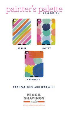Painter's Palette iPad Cases for iPad 2/3/4 and iPad Mini.