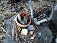 Outside altar or shrine Mabon, Samhain, Magick, Witchcraft, Pagan Altar, Wiccan Alter, Real Love Spells, Love Spell Caster, Witch Aesthetic
