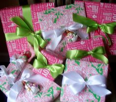 Gifts for my goddaughter .. wrapped in Lilly!