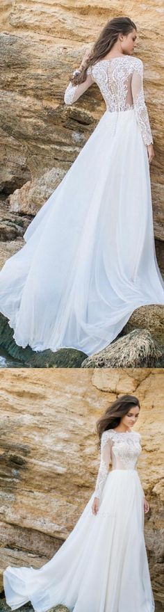 White Wedding Dresses, Long Wedding Dresses, Elegant Lace Chiffon ALine Simple Long Sleeves Beach Wedding Dresses Plus Size WF01-1034, Wedding Dresses, Plus Size Dresses, White Dresses, Plus Size Wedding Dresses, Beach Wedding Dresses, White Lace dresses, Lace Wedding dresses, Long Dresses, Lace dresses, Simple Wedding Dresses, Beach Dresses, Plus Size White dresses, Chiffon Dresses, Elegant Dresses, Long White dresses, White Plus Size Dresses, White Long Dresses, Plus Size Lace dresse...