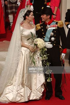 Crown Prince Frederik and Crown Princess Mary of Denmark were married on May 2004 Royal Wedding Gowns, Royal Weddings, Wedding Dresses, Princesa Mary, Mary Of Denmark, Prince Frederick, Danish Royalty, Danish Royal Family, Royal Brides