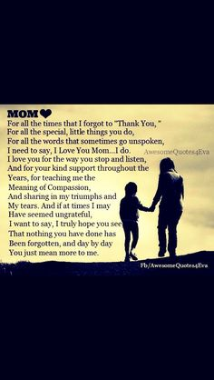 Afbeeldingsresultaat voor thank you mom quotes from daughter Thank You Mom Quotes, Mommy Quotes, Mothers Day Quotes, Mothers Love, Family Quotes, Mom Poems, For My Mom Quotes, Nana Quotes, Life Poems