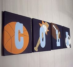 Kids Sports Room décor trends and fashion 2011 Kids Sports Bedroom, Sports Room Decor, Sports Wall, Baby Nursery Art, Crafts For Boys, Boy Room, New Baby Products, Wall Art, Fun