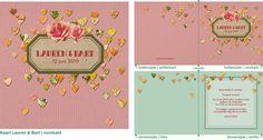 trouwkaart namen label bloem