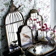 Eye For Design: Avian Decor..... Birdcages, Art, And Other Bird Inspired Accessories.