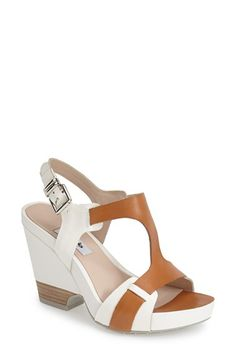 Clarks® Narrative 'Rosalie Petal' Demi-Wedge Leather Sandal (Women) available at #Nordstrom