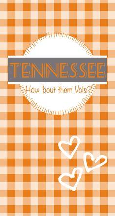 Tennessee volunteers go vols iphone wallpaper. Go big orange. #butchplease
