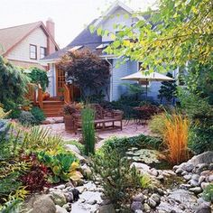 Sunken patio Backyard Retreat, Backyard Landscaping, Backyard Ideas, Oasis Backyard, Nice Backyard, Garden Oasis, Garden Pool, Tropical Garden, Garden Planters