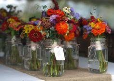 Bridesmaid wildflower bouquets