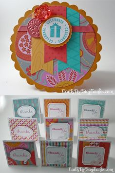 Love the new CTMH Dream Pop Paper Packet? Here is Mojo Monday Card 291 and some 3 x 3 cards to inspire you!