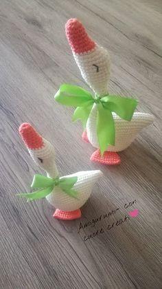 Crochet Birds, Crochet Unicorn, Easter Crochet, Cute Crochet, Crochet Animals, Crochet Crafts, Crochet Dolls, Crochet Projects, Knit Crochet