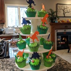 12 Dinosaur Cupcake Toppers Devon added a photo of their purchase Birthday Party At Park, First Birthday Parties, Birthday Party Decorations, Elmo Party, Mickey Party, 3 Year Old Birthday Party Boy, Birthday Ideas, Dinosaur First Birthday, Elmo Birthday