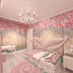 Achieve a lovely and luxurious pink theme bedroom for kids with Circu Magical furniture: CIRCU. Princess Bedrooms, Pink Bedrooms, Princess Room, Girls Bedroom, Bedroom Colors, Bedroom Decor, Little Girl Rooms, Awesome Bedrooms, House Rooms