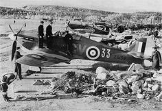 RAF Hawker Hurricane Mk. IIBT In the foreground is a hurricane pilot Officer Charles m Ramsay
