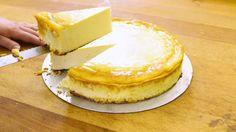Das perfekte Käsekuchen ohne Boden: Angerührt in nur drei Minuten-Rezept mit Video und einfacher Schritt-für-Schritt-Anleitung: Die Eier, den Zucker und…