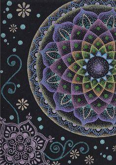 Mandala and Mehndi by kiiabuno, via Flickr