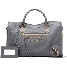 Balenciaga Classic Metallic Edge City ($2,125) ❤ liked on Polyvore featuring bags, handbags, shoulder bag purse, metallic handbags, metallic shoulder bag, metallic bag and shoulder handbags