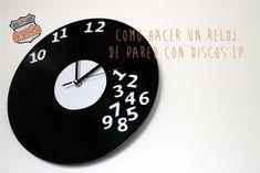 COMO HACER UN RELOJ DE PARED CON DISCOS LP