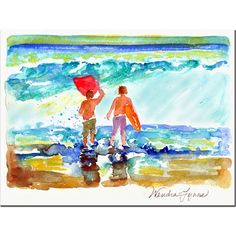 'Boogie Boarders' by Wendra Painting Print on Canvas