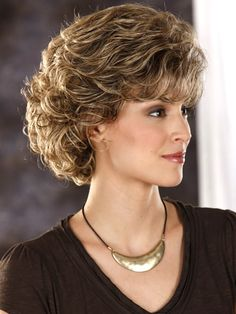 Shop our online store for Brown hair wigs for women.Brown Wig Lace Frontal Hair Equal Lace Front From Our Wigs Shops,Buy The Wig Now With Big Discount. Short Wavy Hair, Short Hair With Layers, Curly Hair Cuts, Cute Hairstyles For Short Hair, Short Hair Cuts For Women, Layered Hair, Curly Hair Styles, Thin Hair, Long Hair