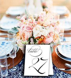 Table Number Cards 150 Swindon  wedding printable table by Dantell, $7.50